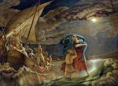 Philipp Otto Runge Peter Walks on Water, 1806 98x72 [Kitchen]