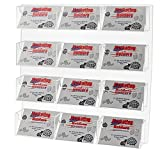 Marketing Holders Wall Mount 12 Pocket Post Card Display System Postcard (Pack of 1)