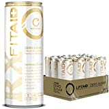 FITAID Rx Zero | No Artificial Flavors/Sweeteners | Keto-Friendly | #1 Post-Workout Recovery Drink | 0g Sugar | Creatine, BCAAs, Glucosamine, Omega-3s, Green Tea | 5 Calorie | 12-Oz. Can (Pack Of 12)