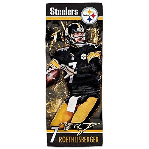 Mission Nfl Player Enduracool Microfiber Towel  Pittsburgh Steelers Ben Roethlisberger  12  X 30