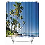 Shower Curtain, TwoS Large Printing Polyester Waterproof Textile Shower Curtain,72 x 72-Inch (A3)