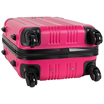 "Kenneth Cole Reaction Out Of Bounds Abs 4-wheel Luggage 2-piece Set 20"" & 28"" Sizes, Magenta 2"