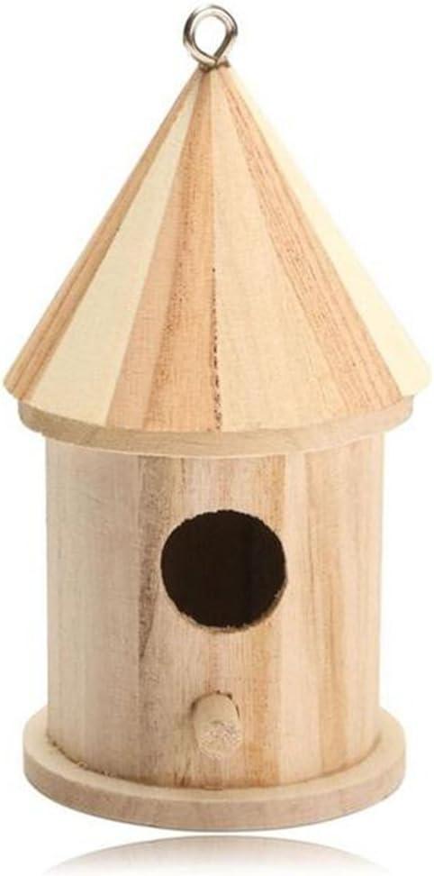 Balacoo Colgante de Madera Casa de pájaros Casa de jardín Casa de Aves al Aire Libre Interior Nido de pájaro para Ardilla Colibrí Pájaro Azul Loro Gorrión Pájaro Pequeño: Amazon.es: Productos para
