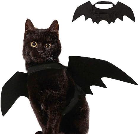 YING Halloween Mascota alas de murciélago Disfraz para Gato Perro ...