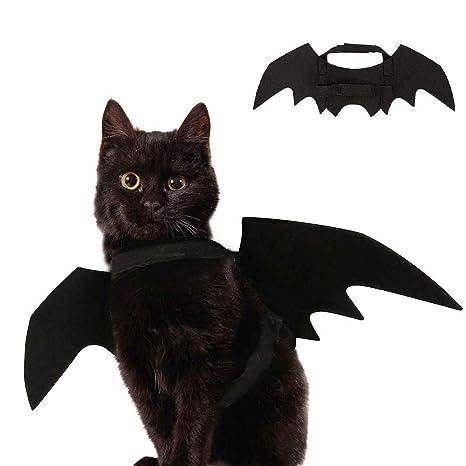 YING Halloween Mascota alas de murciélago Disfraz para Gato ...