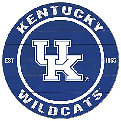 KH Sports Fan 20x20 Weathered Colored Circle - Classic Kentucky Wildcats