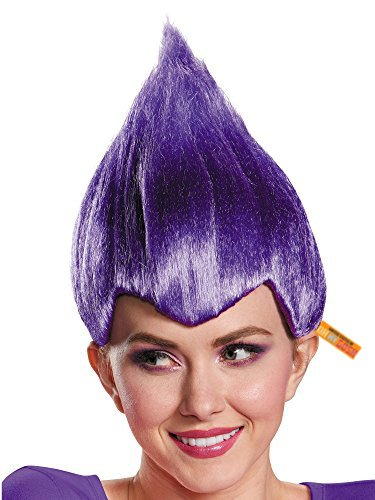 United States of Oh My Gosh Bright Colored Troll Costume Wig - 5 Colors Colored Troll Hair (Purple) ()