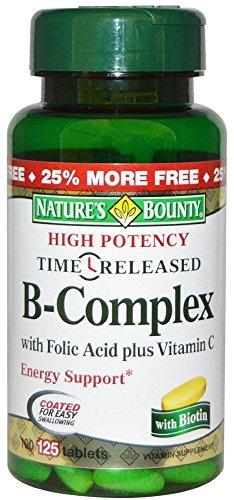 Nature`s Bounty B Complex W/Folic Acid Plus C Tablets 100 Ct (3 Pack)