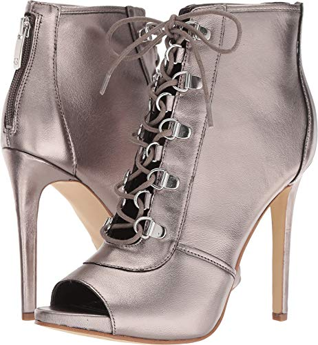 Guess Leather Platforms - GUESS Women's Alysa Silver Leather 7.5 M US