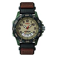 Timex Expedition Resin Combo Classic Analógico Verde /Negro /Marrón (38191)