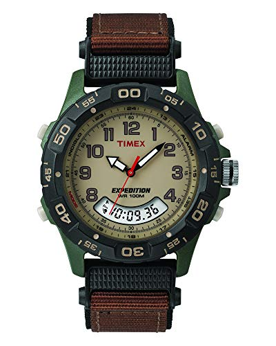 Timex Expedition Resin Combo Classic Analog Green/Black/Brown ()