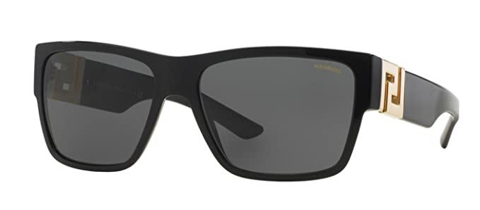 4ae7e7e4d3 Amazon.com  Versace Men s VE4296 Sunglasses Black Gray 59mm  Versace   Sports   Outdoors