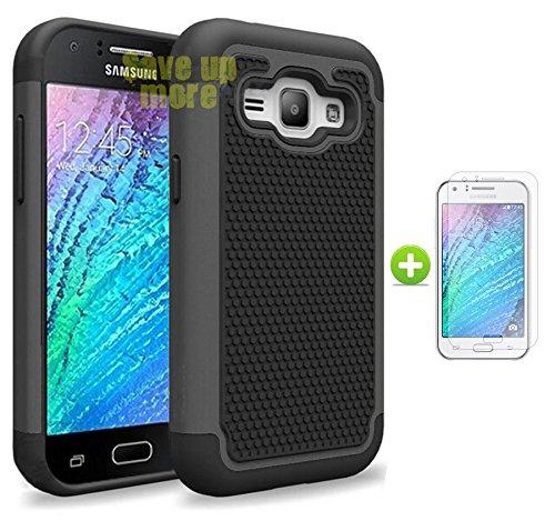Slim Shockproof Case for Samsung Galaxy J1 (Black) - 6