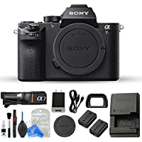Sony a7R II Full-Frame Mirrorless Interchangeable Lens Camera, Body Only (Black) + DigitalAndMore Camera & Lens Cleaning Solution (Body)