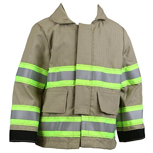Fully Involved Stitching Firefighter Personalized Tan Toddler Jacket (2T)