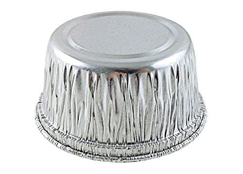 Handi-Foil of America 4 oz. Aluminum Foil Muffin / Utility Cupcake Ramekin Cup w/ Board Lid 125 Sets (pack of 125)