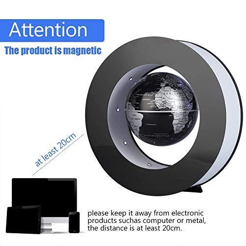 Desk Decoration - Magnetic Floating Globe with LED Lights, Magnetic Levitation Floating Globe World Map for Desk Decoration(Black) by Bonebit (Image #6)