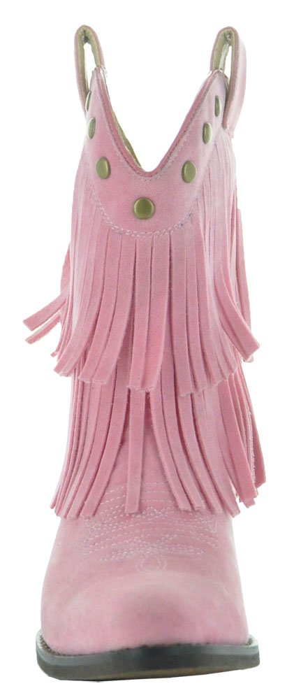 Little Kids Fun Fringe Brown Cowgirl Boots by Country Love Boots (11.5 Little Kid, Pink) by Country Love Boots (Image #1)