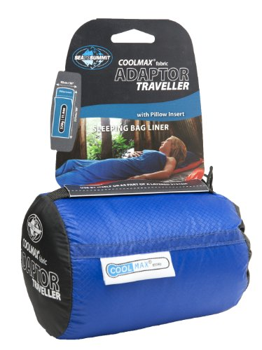 (Sea to Summit Coolmax Adaptor Traveller Liner Blue One Size)