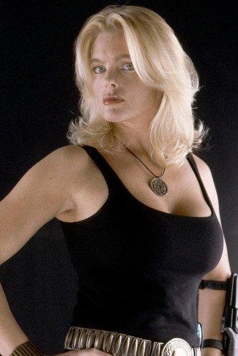 Erika Eleniak X Mini Poster Sexy In Black Wifebeater Under Siege