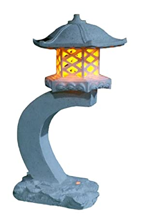 Lanterne Japonaise Hauteur Tiaan 61cm Lampe De Jardin Solaire Lampe