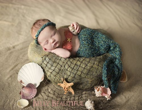 Part of Your World - Mermaid Set Knitting Pattern - 7 Sizes Included
