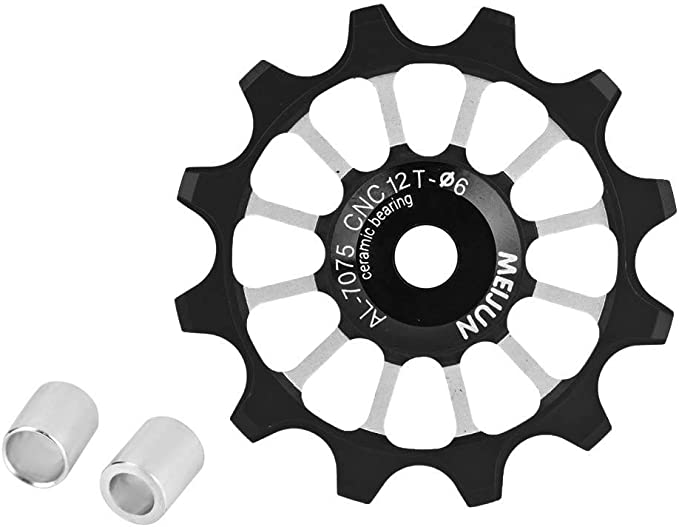 1Pc Ultralight Aluminum Alloy Bike Bearing Jockey Wheel Rear Derailleur Pull Hq