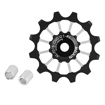 T-best Bike Guide Wheel,12T Jockey Wheels Pulley MTB Road Mountain Bike  Bicycle Rear Derailleur Pulley Roller Wheel Aluminum Alloy Ceramic Jockey