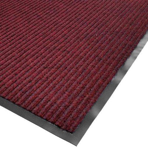 (Cactus Mat 1485M-R48 4' x 8' Red Needle Rib Carpet Mat - 3/8