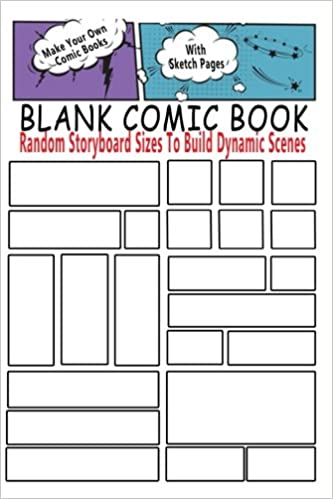 Blank Comic Book  Random Storyboard Sizes To Build Dynamic Scenes