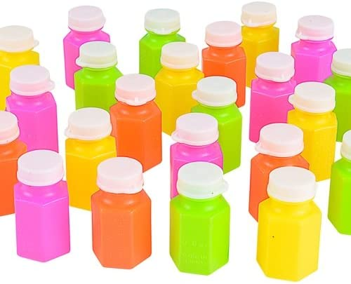 .5oz .6 OZ NEON BUBBLE BOTTLES, Case of 288 51gx35JoT4L