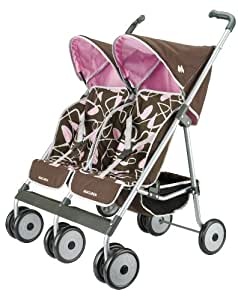 Knorr 71020 Maclaren - Silla de paseo para gemelos de juguete, color marrón y rosa