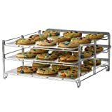 """Nifty 3-In-1 Oven Baking Rack, Chrome, 15-1/2"""" Length X 14-1/4"""" Width X 7-1/4"""" Height"""