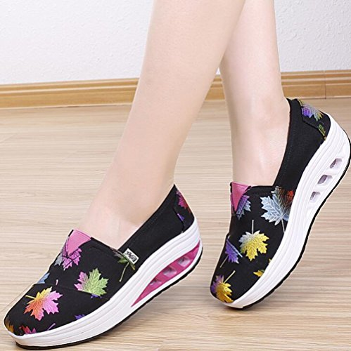 Zapatos UN de Zapatos Tela Zapatos de Zapatos Ligeros 2018 Color Respirables de Casuales Impresos de de Las Tela Zapatos Mujeres Sacudida Zapatos 35 tamaño Lona sacudiendo vqgUqI