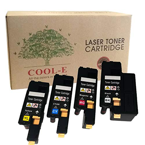 Dell 1250c Toner Cartridges Compatible for 1250 1350 1355 C1760 C1765 Printer Set of High Yield Replacement: Black Yellow Cyan and Magenta (4pk Set)
