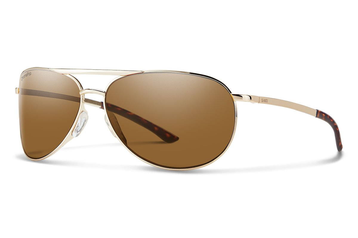 Smith Serpico Slim 2 ChromaPop Polarized Sunglasses, Gold, Brown Lens Smith Optics