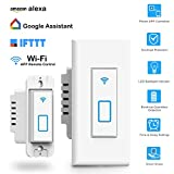 Arvin Light Switch, Compatible with Alexa In Wall Light Switch Mobile Phone APP Remote Alexa Control Sensitive Touch Wireless Light Swtich (Smart Light Switch)