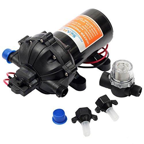 Balanced Diaphragm (Seaflo 12v DC Water Pressure Diaphragm Pump 18.9 L/min 5.0 Gpm 60 Psi)