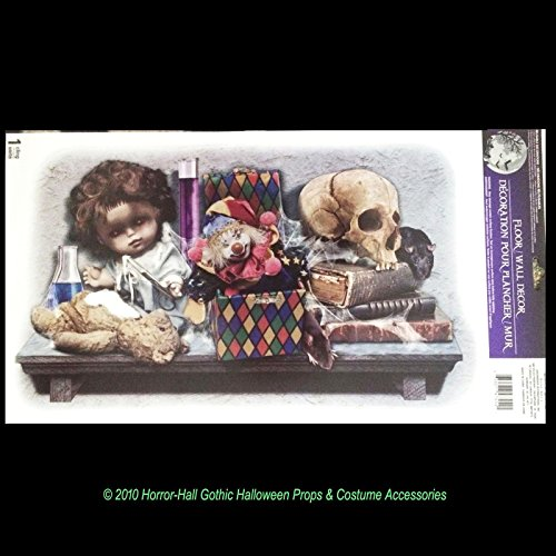 Gothic Horror LABORATORY SKULL DOLL TOYS Haunted House Halloween STICKER -