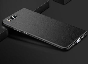 Baanuse Xiaomi 6 Funda Xiaomi Mi6 Funda, [Ultra Slim Soft TPU] [Sand Scrub Non-slip] [Shockproof Armor] Carcasa para Xiaomi 6 Negro