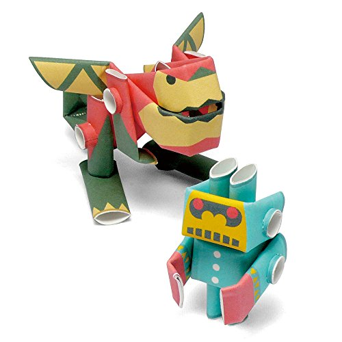 PIPEROID Ron & Little-G Paper Craft Robot kit from Japan - Dragon & Little -
