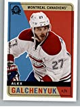 2017-18 O-Pee-Chee Retro #345 Alex Galchenyuk NM-MT Canadiens