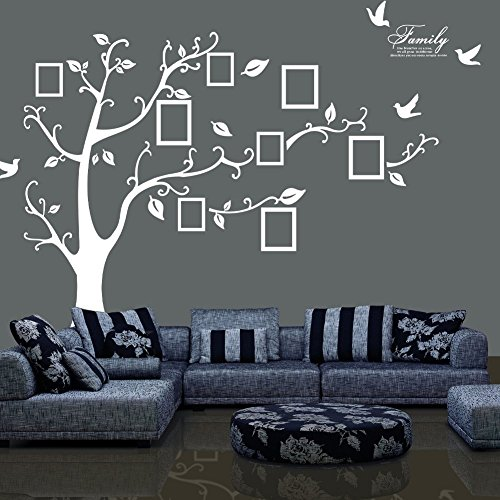 TT Marketing Photo frame tree wall stickers Tree wall Decor Removable Wall Decor Decal Stickers for livingroom/gallery/family/office/study rooms decor