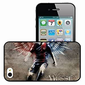 Personalized iPhone 4 4S Cell phone Case/Cover Skin Leo Messi Lionel Messi FC Barcelona Football Black