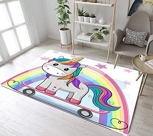 Rainbow Rugs and Carpets for Baby Home Living Room Large Bedroom Parlor Hallway Kitchen Door Floor Bath Mats