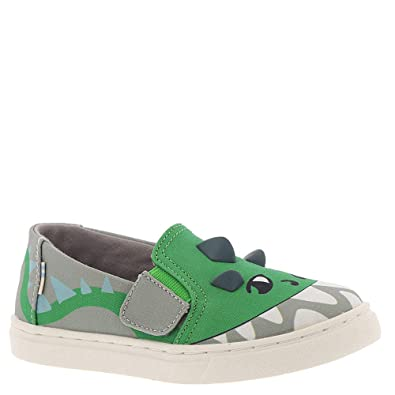 816d94add80 TOMS Kids Baby Boy s Luca (Toddler Little Kid) Grey Dino Glow in The