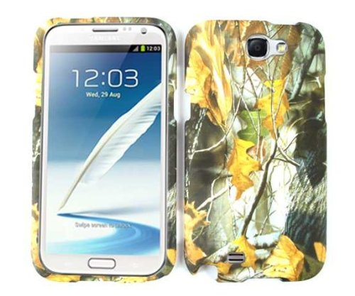 Samsung Galaxy Note2 Note 2 (2nd Generations Galaxy Note) Camo/Camouflage Hunter Series, w/ Dry Leaves Mossy Oak Hard Case/Cover/Faceplate/Snap On/Housing/Protector