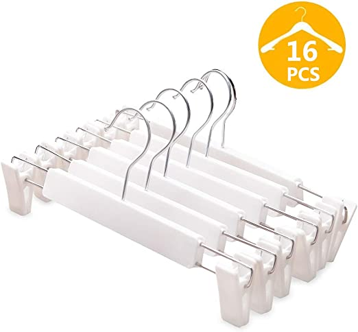 Pants Hanger 10PCS Skirt Holder With 2 Clips Organizer Trouser Durable