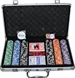 300pc 11.5 gram Premium Tournament Ready High Roller Poker Chip Set w/ Free 2-Decks Plastic Playing Cards