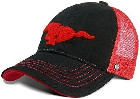 Gorra de béisbol diseño de camioneta Ford Mustang, color rojo y ...